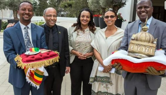 The precious crown handed over to Ethiopia