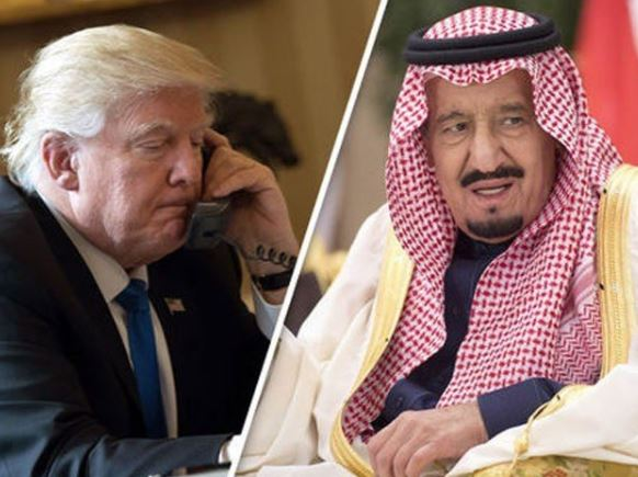 donalod trump,king of saudia