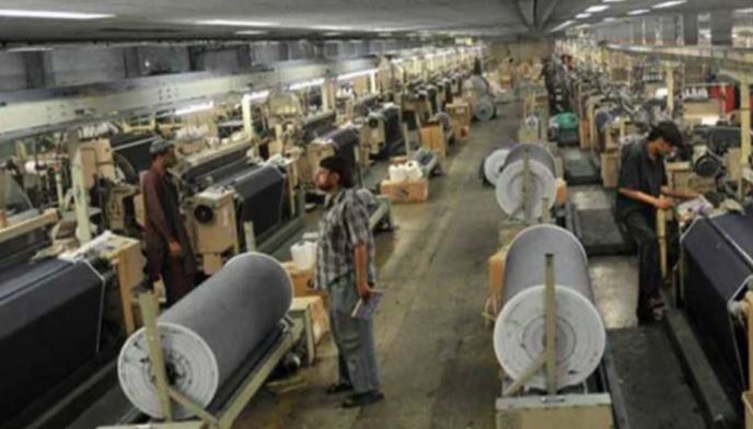 Decreased production of large industries