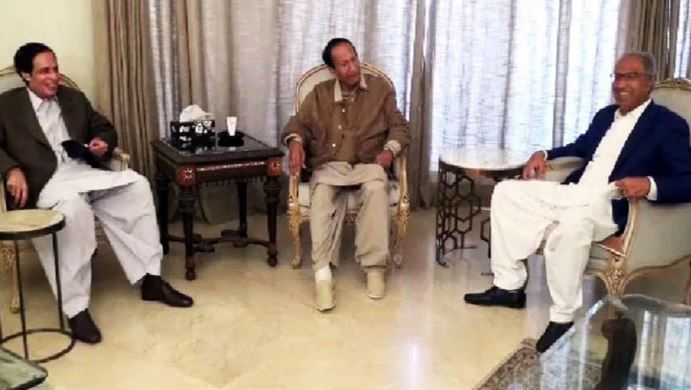 hafeez sheikh meet with chaudhry brothers