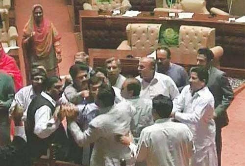 sindh assembly members fight