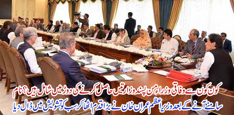 imran khan and federal cabinet