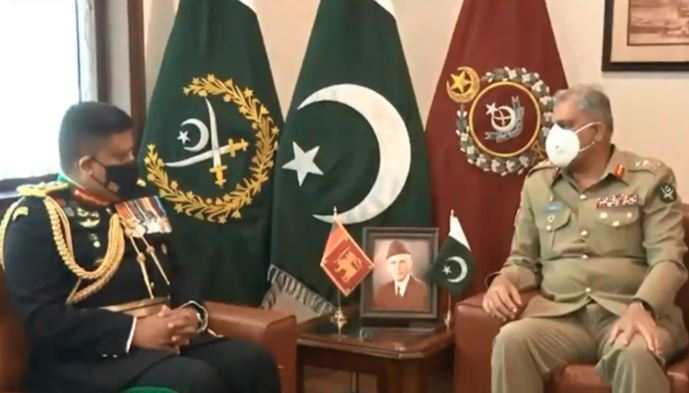 srilankan chief of deffence meet with army chief gernal qamer javed bajwa