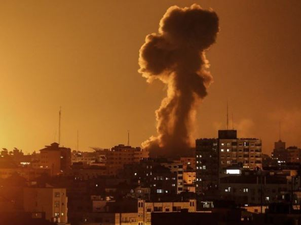 bombing on ghaza