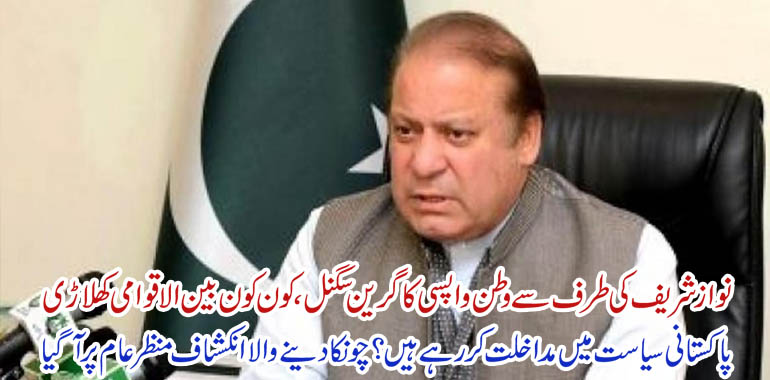 nawaz sharif return