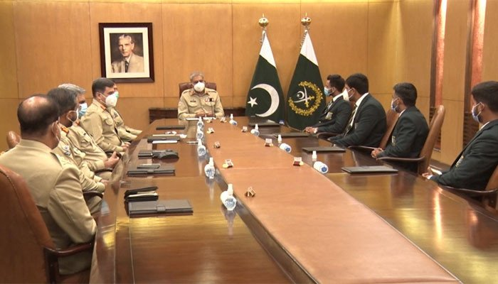 tokyio olmpics player meet with army chief